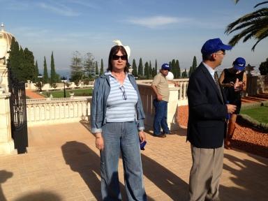 בעת סיור האגוד המקצועי בחיפה, הגנים הבהאיים