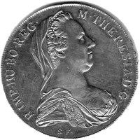 הטאלר של מריה, המטבע ועליו דיוקנה